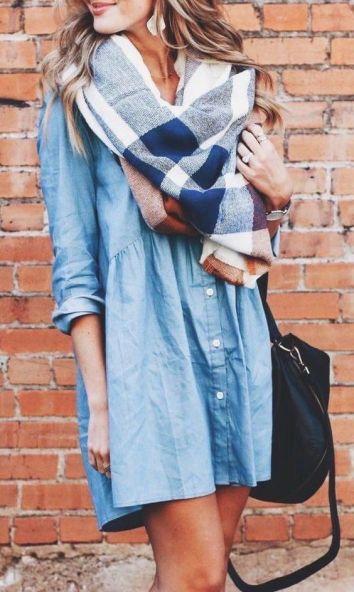 Dress & Scarf - OOTD